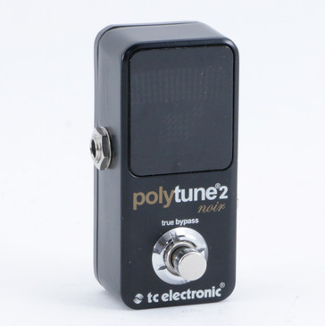 TC Electronic Polytune 2 Noir Chromatic Tuner Guitar Effects Pedal P-10160