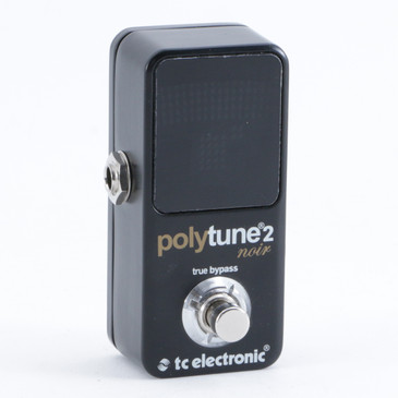 TC Electronic Polytune 2 Noir Chromatic Tuner Guitar Effects Pedal P-10235