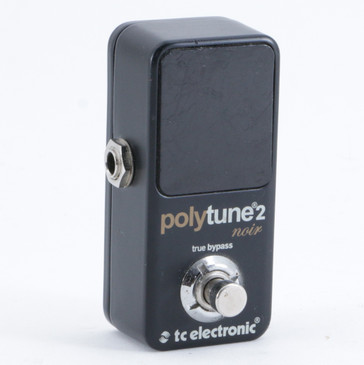 TC Electronic Polytune 2 Noir Chromatic Tuner Guitar Effects Pedal P-10234