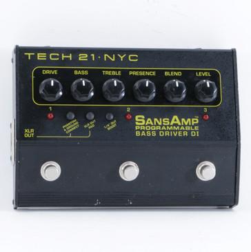 Tech 21 Programmable Bass Driver DI Bass Effects Pedal P-10311