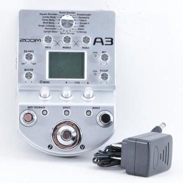 Zoom A3 Acoustic Guitar Multi-Effects Pedal & PSA P-10366