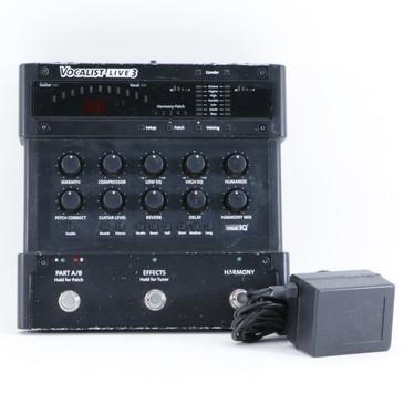 Digitech Vocalist Live 3 Vocal Multi-Effects Pedal & PSA P-10413