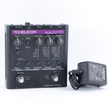 TC Helicon Synth Vocal Multi-Effects Pedal & PSA P-10408