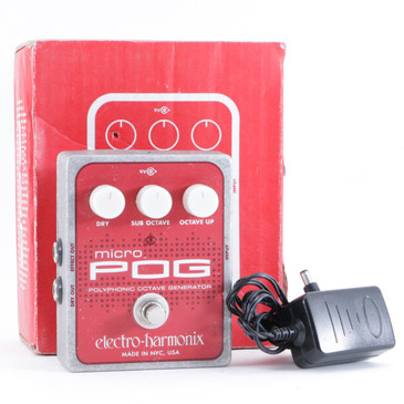 AnalogMan Electro-Harmonix Micro Pog Octave Guitar Effects Pedal w/ PSA P-10407