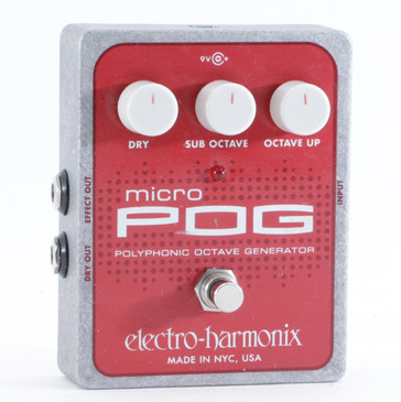 Electro-Harmonix Micro Pog Octave Guitar Effects Pedal P-10479