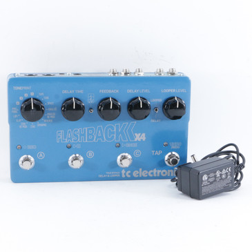 TC Electronic Flashback x4 Delay & Looper Guitar Effects Pedal w/ PSA P-10612