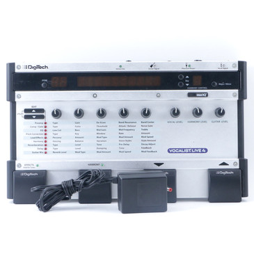 Digitech Vocalist Live 4 VL4 Vocal Effects Pedal & Power Supply P-11082