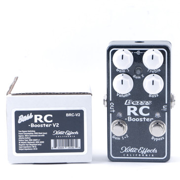 Xotic Bass RC Booster V2 Bass Guitar Effects Pedal w/ Box P-11157