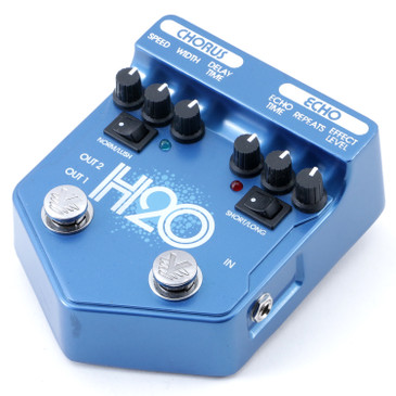 Visual Sound H2O V2 Echo / Chorus Guitar Effects Pedal P-11944