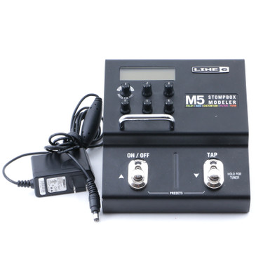 Line 6 M5 Guitar Multi-Effects Pedal & Power Supply P-11972
