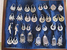 Mayan Antique Silver Earrings