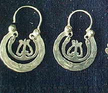 Mayan Antique Silver Earrings #6