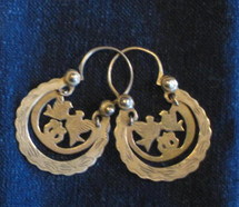 Mayan Brass Antique Earrings #27
