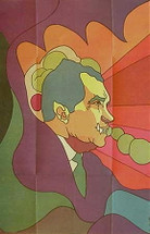 OSPAAAL 1972 -- Faces of Nixon by Alfredo Rostgaard