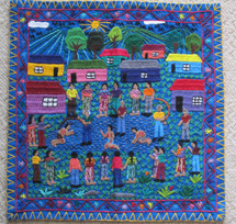"Art Embroidery Panel ""Castigo Maya"""