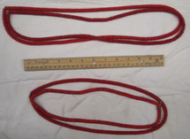 Maya Beaded Necklace #3A red