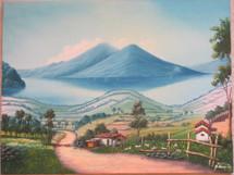 Bayron Xocop Painting Lake Atitlan #2