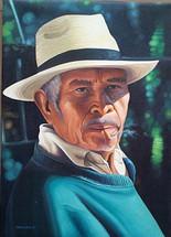 Juan Diego Sisay -- Man with Panama Hat