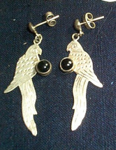 Mayan Silver Earrings #13
