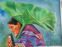 Juan Sisay C. -- Woman with Umbrella