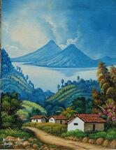 Hugo Simon -- Lake Atitlan from San Antonio #2