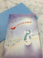 'Tis The Season Snowman Gift Card