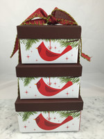 Cardinal Gift Box Tower