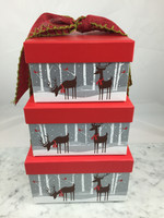 Reindeer Gift Box Tower