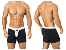 1325* PPU Men's Tuxedo Boxer Brief Color Black-White
