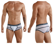 5374 Clever Men's Asian Piping Briefs Color White