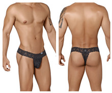 99315 CandyMan Men's Peek a Boo Thong Color Black