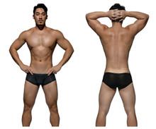 DGEMU3487BT Private Structure Men's Desire Glaze Hipster Boxer Brief Color Black