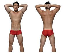 DGEMU3487BT Private Structure Men's Desire Glaze Hipster Boxer Brief Color Red