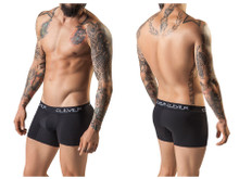 2219 Clever Men's Basic Boxer Color Black