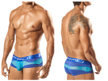 1555* PPU Men's Wave Brief Color Blue