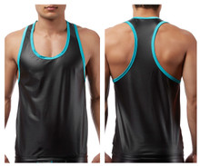 112233 MalePower Lazer Mesh Tank Top Color Black
