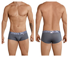 41310 Xtremen Men's Stripes Brief Color Gray