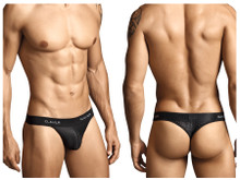 0001 Clever Men's Mesh Thong Color Black