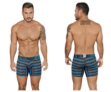 51415 Xtremen Men's Boxer Briefs Stripes Color Black