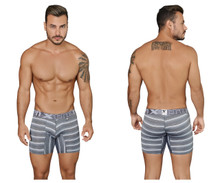 51415 Xtremen Men's Boxer Briefs Stripes Color Gray