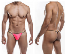JS02-Pol Joe Snyder Men's Polyester G-String Color Neon Pink