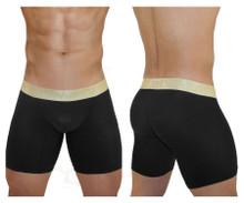 EW0827 ErgoWear Men's FEEL XV Boxer Briefs Color Black-Gold