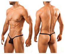 JSBUL02 Joe Snyder Men's Bulge Tanga Thong Color Black Mesh