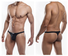 JS03-Pol Joe Snyder Men's Polyester Thong Color Black