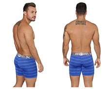 51417 Xtremen Men's Boxer Briefs Microfiber Stripes Color Blue