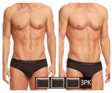 980403-001 Papi Men's 3PK Cotton Stretch Briefs Color Black