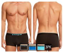 980501-941 Papi Men's 3PK Cotton Stretch Brazilian Solids Color Black-Cobalt-Blue