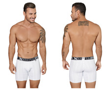 51419 Xtremen Men's Microfiber Boxer Briefs Color White