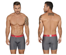 51419 Xtremen Men's Microfiber Boxer Briefs Color Gray