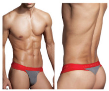 1258-SMK Doreanse Men's Warrior Thong Color Smoke-Red